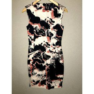 French Connection Abstract Print Sheath Dress